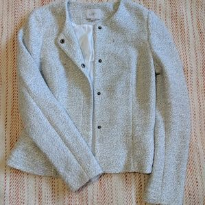 LOFT Button-Up Knit Blazer